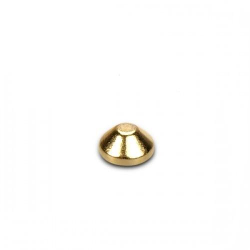 Cone Magnet Ø  4,0/2,0 x 2,0 mm Neodymium N45, Gold