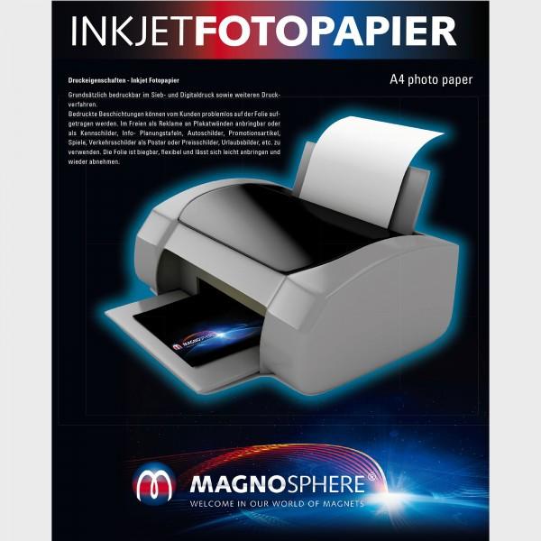 A4 Magnetic Photo Paper , white matt