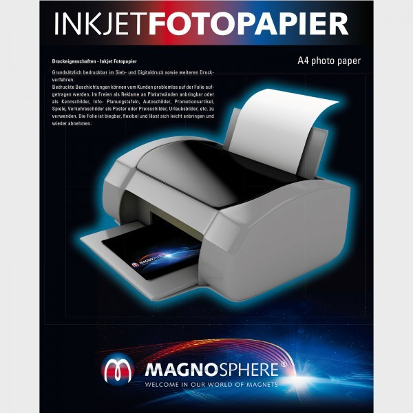 graphic relating to Printable Magnetic Sheets identified as A3 Magnetic Image Paper , white matt
