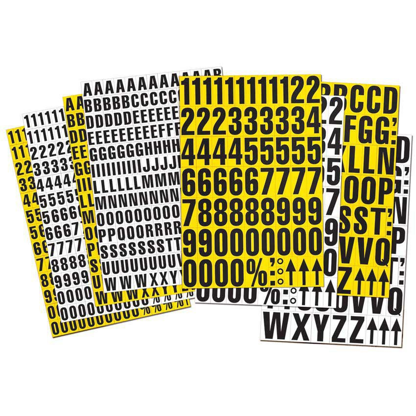Storage ID, Magnetic Alphabet  A - Z, Special Characters, 43mm high