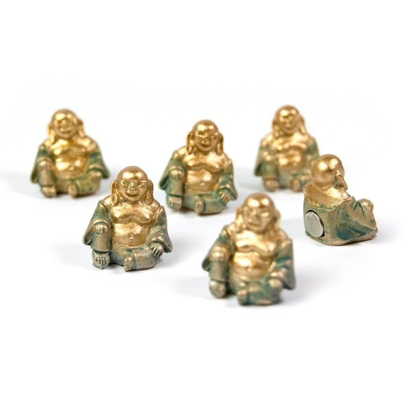 Assorted Animal Style Office Magnets Buddha set of 6 measure 20 x 14 x 19 mm