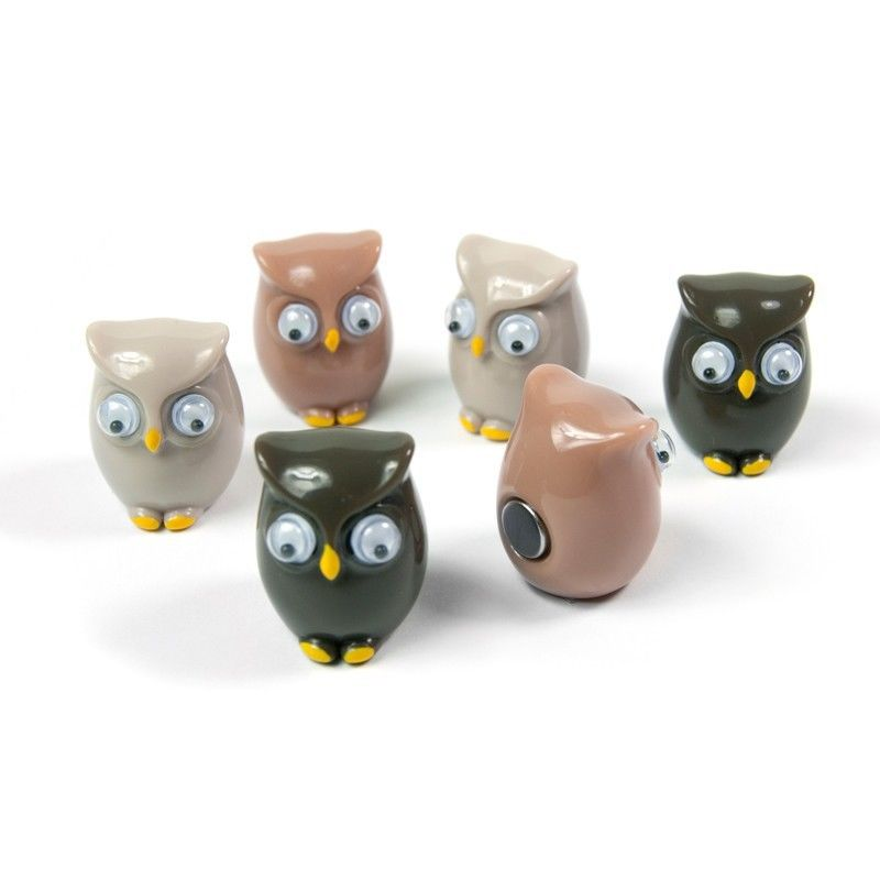 Assorted Animal Style Office Magnets Owls measure 20 x 16 x 16 mm
