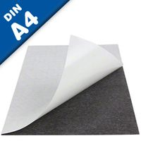 Plain magnetic sheet with self adhesive, format A4 - 210 x 297 x 0,9mm