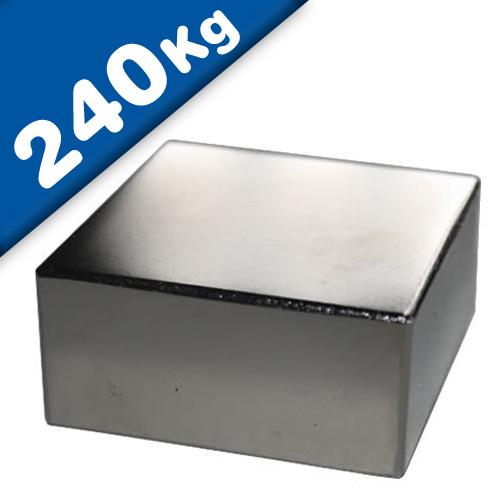 Block Magnet 60 x 60 x 30mm Neodymium N45 (Rare Earth), Nickel - pull 240 kg