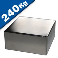 Block Magnet 60 x 60 x 30mm Neodymium N45 (Rare Earth), Nickel - Force 240 kg