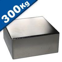 Quadermagnet Magnet-Quader  70 x  70 x 20mm Neodym N45, Nickel - hält 300 kg