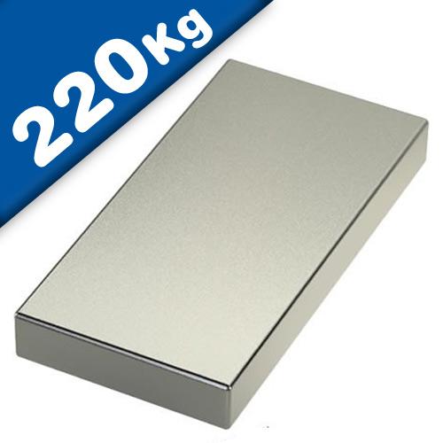 Block Magnet 80 x 40 x 20mm Neodymium N52 (Rare Earth), Nickel - pull 220 kg