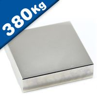 Block Magnet  80 x  80 x 10mm Neodymium N52 (Rare Earth) Nickel - pull 380 kg