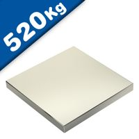 Quadermagnet Magnet-Quader 100 x 100 x 20mm Neodym N45, Nickel - hält 520 kg
