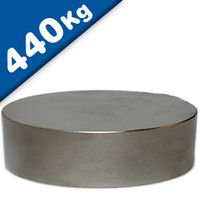 Scheibenmagnet / Rundmagnet Ø100x20mm – Neodym N45 (NdFeB) Nickel - hält 440 kg