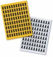 Letras magnéticas 43mm altura, etiquetado almacén, set individual en formato A4