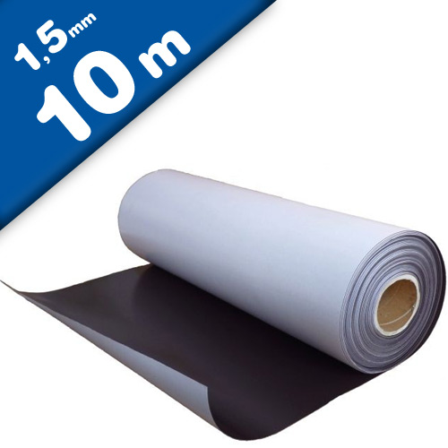 Plain magnetic sheet with self adhesive 1,5mm x 0,62m x 10m