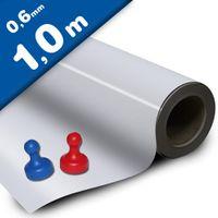 Fogli metallici bianco lucido adesivo 0,6mm x  62cm x 100cm