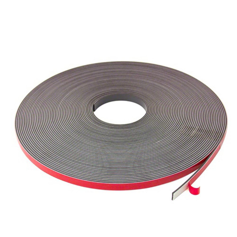 Self Adhesive Magnetic Tape Strip with foam adhesive, Typ B 1,5mm x 12,7mm x 30m