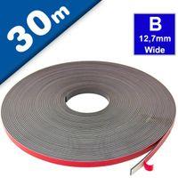 Bande magnétique avec mousse adhésif polarité B - 1,5mm x 12,7mm x 30m