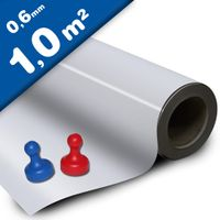White gloss ferrous sheet with self adhesive 0,6mm x 100cm x 100cm