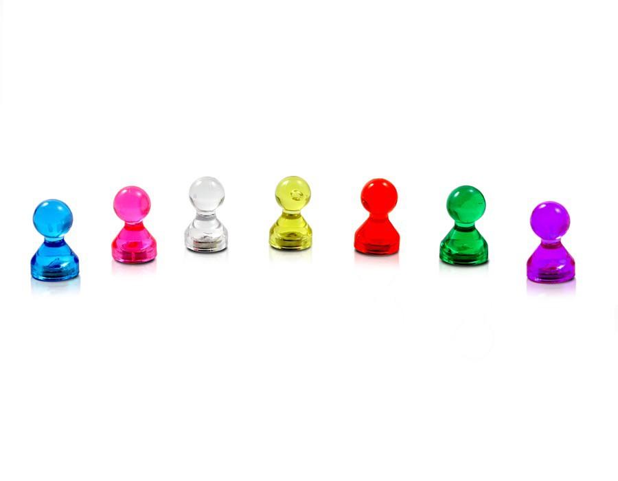 bis zu 15 Blatt Papier DIN A4 30 x Kegelmagnet Kegel Pinnwand Magnet Neodym K/ühlschrank Acryl Haftkraft: 500g /Ø 11 x 17mm in 7 Farben Farbe:orange - f/ür Pinnwand Whiteboard