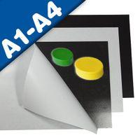 Feuille en fer Caoutchouc ferreux auto-adhesif  DIN A Format (A1-A4)