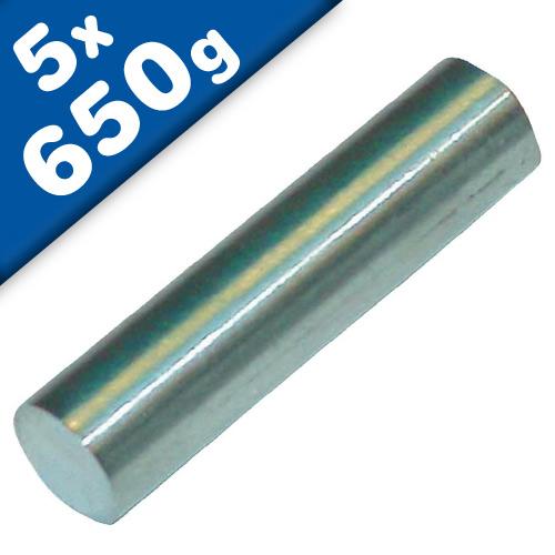 Magnetic Rod Round Magnet Ø 5 x 10mm Samarium Cobalt (SmCo), nickel - 650 g
