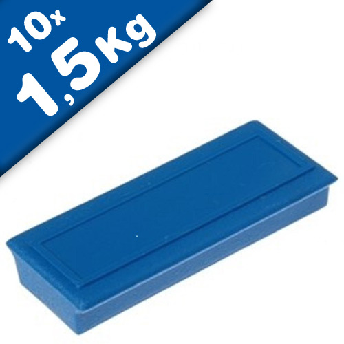 Office magnet 53 x 23 x 9mm Ferrite, with label area, 10 colors