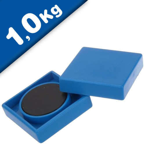 Office magnet 35 x 35 x 9 mm Ferrite 10 assorted colors, pull 1kg