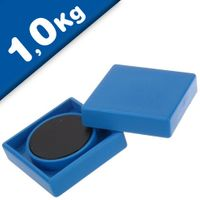 Magnete ufficio 35 x 35 x 9mm Ferrite, 10 colori assortiti, forza 1 kg