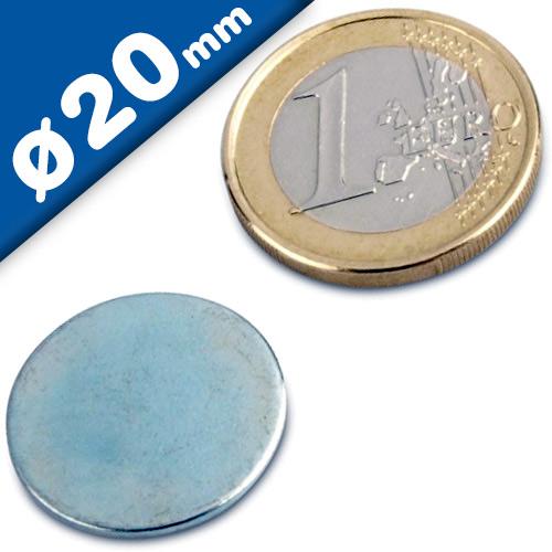 Metallscheiben selbstklebend aus DC01 verzinkt Ø 20 x 2mm Gegenstück für Magnete