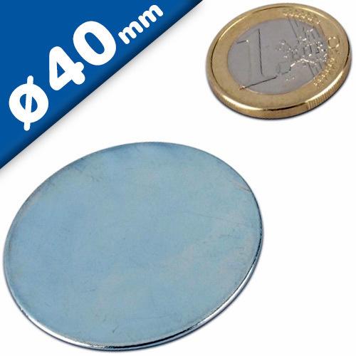 Rondelle piane in ferro//acciaio DC01 zincato Ø50 x 5mm controparte per magneti