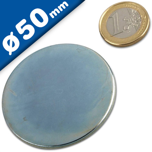 Metal disk galvanized double-sided adhesive tape Ø 50mm x 2,5mm
