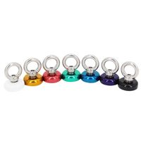 Eyebolt Magnets coloured, Pot Magnet with Eyelet Ø 25 mm - force 19 kg