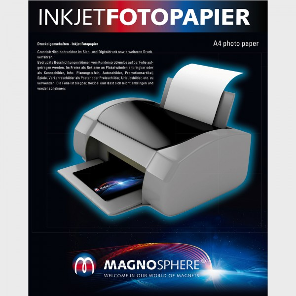 Inkjet Printable Magnets Sheets, Blank Magnetic Sheets for Advertising Signage, Inkjet Printable Magnetic Paper