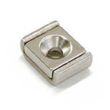 Channel magnet Neodymium 15 x 13,5 x 5mm with countersunk borehole - holds 7 kg 001
