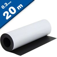 Matte White Vinyl Magnetic Sheet 0,3mm x 1m x 20m Roll - Flexible Magnets