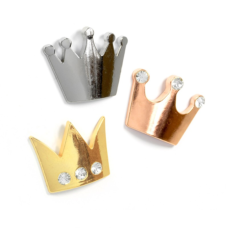 Fridge magnets CROWN, 39 x 32 x 5mm Deco magnets, metal - set of 3