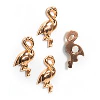 Fridge magnets FLAMINGO 18 x 31 x 4mm Deco magnets, metal - set of 4