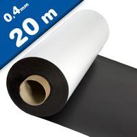 Lámina magnética blanco mate 0,4mm x 1m x 20m