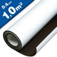 Feuille magnétique Caoutchouc aimanté BLANC MAT 0,4mm x 1m x 1m Plaque aimantée