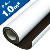 Lámina magnética blanco mate 0,4mm x 1m x 1m