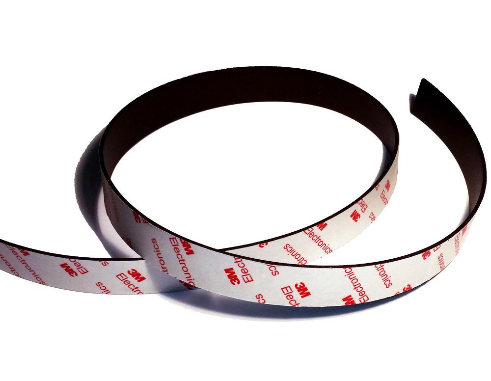 Cintas adhesivas magnéticos flexibles con 3M auto-adhesivo de cinta magnética de neodimio más fuerte