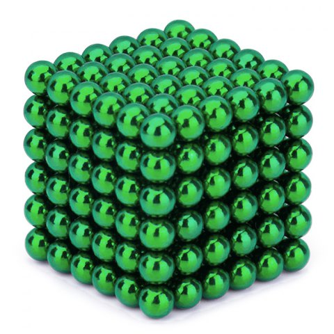 Neocube Green Ø 5mm Sphere magnets neodymium, 216 pieces per set