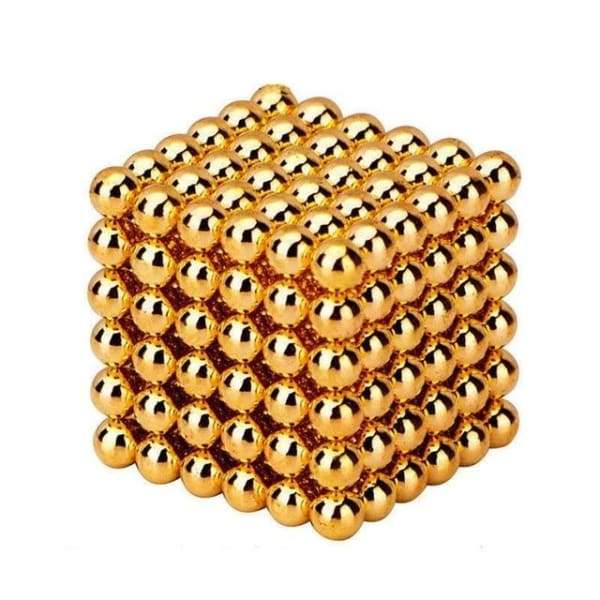 Neocube Gold Ø 5mm Sphere magnets neodymium, 216 pieces per set