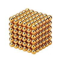 Neocube Gold Ø 5mm Sphere magnets neodymium, 216 pieces per set