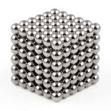 Neocube Silver Ø 5mm Sphere magnets neodymium, 216 pieces per set