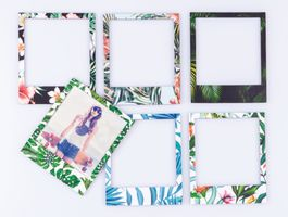 6 x Cadre Photo Color Polaframes Aimant/PVC - Tropical