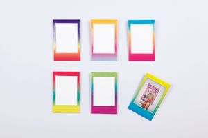 6 x Mini-Cadre Photo Color Miniframes Aimant/PVC - Gradient
