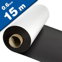 Matte White Vinyl Magnet Sheet 0,6mm x 0,62m x 15m