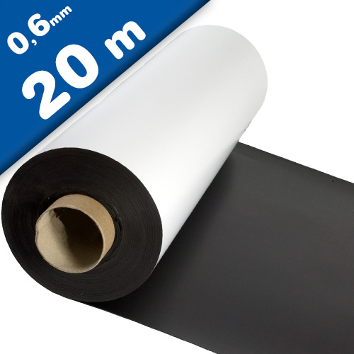 Matte White Vinyl Magnet Sheet 0,6mm x 1m x 20m