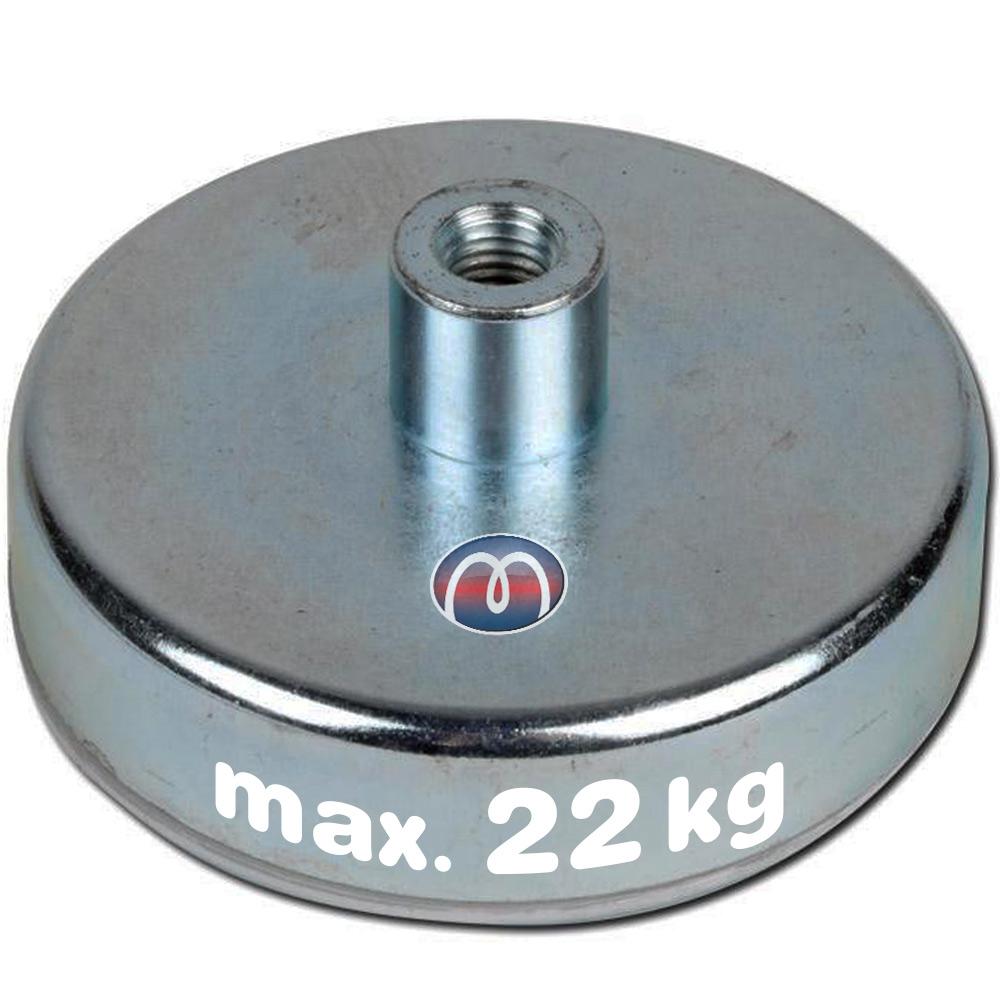 SmCo Flachgreifer aus Hartferrit mit Gewindebuchse Magnetsystem, Topfmagnete