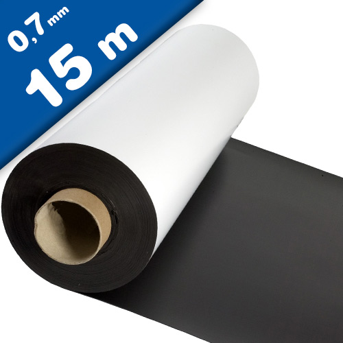 Matte White Vinyl Magnet Sheet 0,7mm x 0,62m x 15m