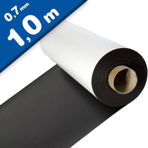 Magnetfolie weiß matt beschichtet 0,7mm x  62cm x 100cm - Meterware